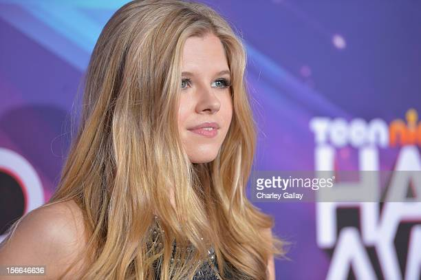 Actress Ana Mulvoy Ten arrives at Nickelodeon's 2012 TeenNick HALO Awards at Hollywood Palladium on November 17 2012 in Hollywood California The show...
