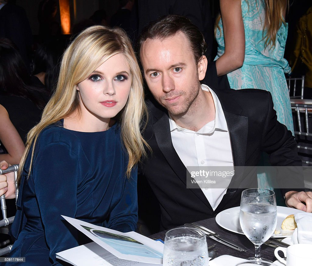 Actress Ana MulvoyTen and photographer Tyler Shields attend the Berggruen Institute 5 Year Anniversary Celebration at The Beverly Wilshire on May 3...