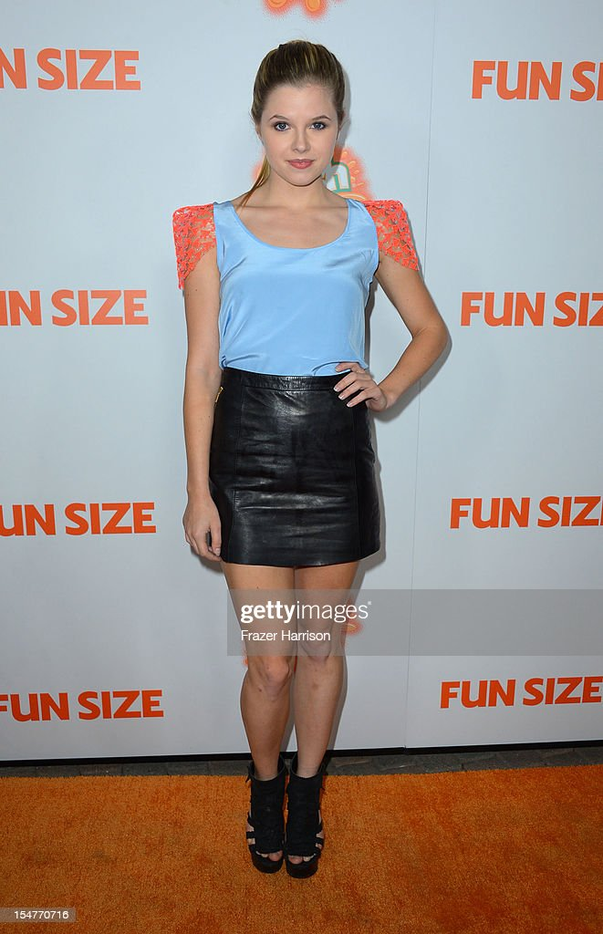 Actress Ana Mulvoy-Ten arrives at the Premiere of Paramount Pictures' 'Fun Size' at Paramount Theater on the Paramount Studios lot on October 25, 2012 in Hollywood, California.