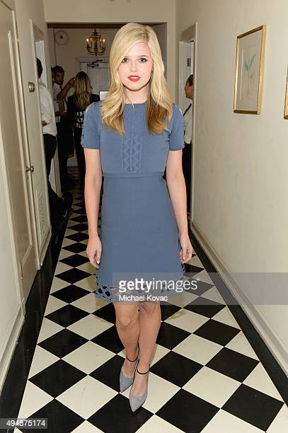 Actress Ana MulvoyTen attends James Corden Vanity Fair And Burberry Celebrate The 2015 British Academy BAFTA Los Angeles Britannia Awards on October...
