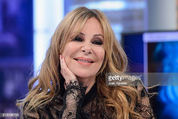 Actress Ana Obregon attends 'El Hormiguero' TV Show at Vertice Studios on March 1 2016 in Madrid Spain