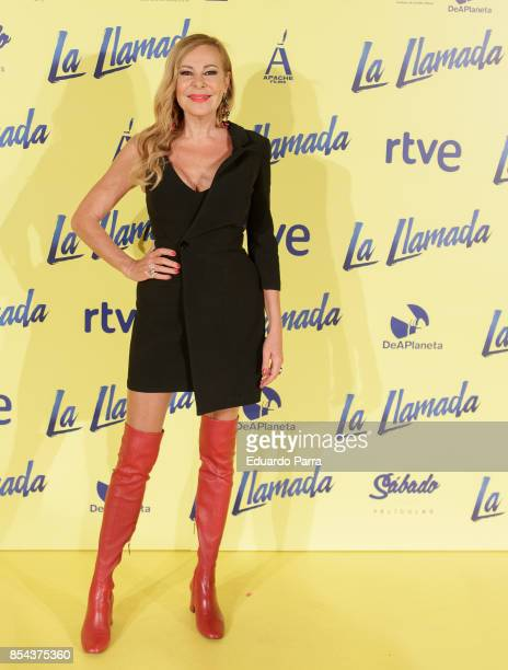 Actress Ana Obregon attends the 'La Llamada' premiere at Capitol cinema on September 26 2017 in Madrid Spain