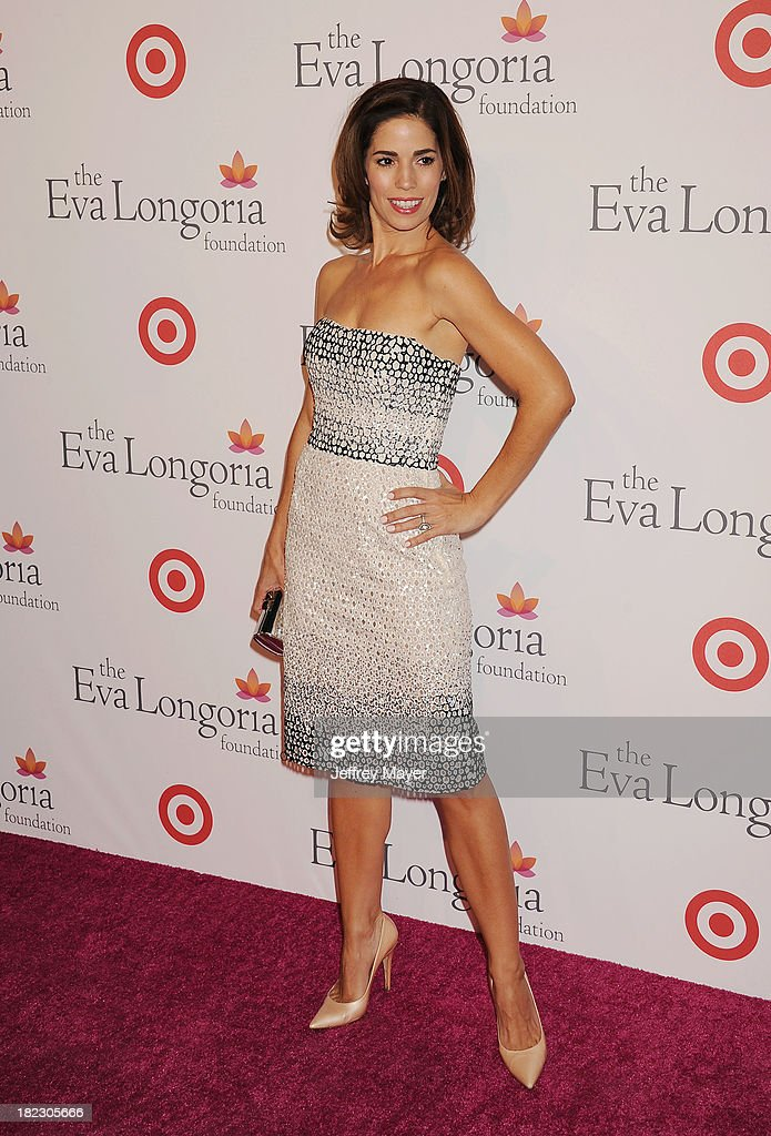 Actress <a gi-track='captionPersonalityLinkClicked' href=/galleries/search?phrase=Ana+Ortiz+-+Actress&family=editorial&specificpeople=12934861 ng-click='$event.stopPropagation()'>Ana Ortiz</a> arrives at the Eva Longoria Foundation Dinner at Beso restaurant on September 28, 2013 in Hollywood, California.
