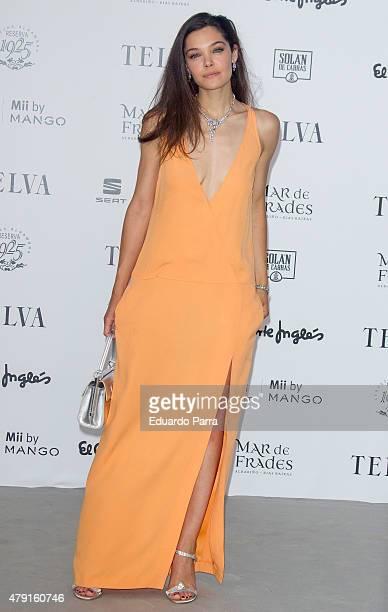 Actress Ana Rujas attends 'TELVA Fashion Catwalk 2015' photocall at Zarzuela Hippodrome on July 1 2015 in Madrid Spain