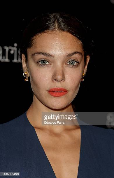 Actress Ana Rujas attends the Aristocrazy fashion show photocall at Chamartin train station on September 14 2016 in Madrid Spain