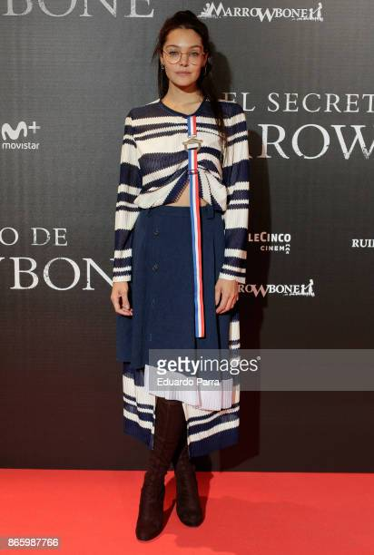 Actress Ana Rujas attends the 'El secreto de Marrowbone' photocall at Capitol cinema on October 24 2017 in Madrid Spain