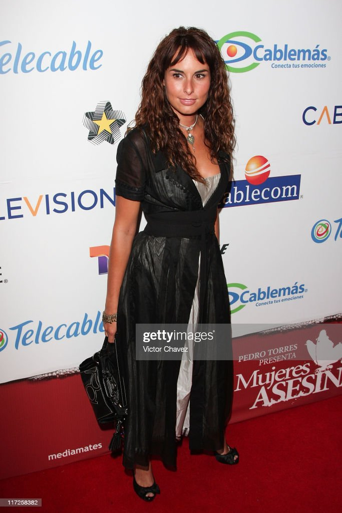 Actress Ana Serradilla attends the Mujeres Asesinas TV show launch on June 13, 2008 at the Lunario del Auditorio Nacional in Mexico City.