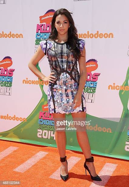 Actress Ana Villafane attends the 2014 Nickelodeon Kids' Choice Sports Awards at Pauley Pavilion on July 17 2014 in Los Angeles California