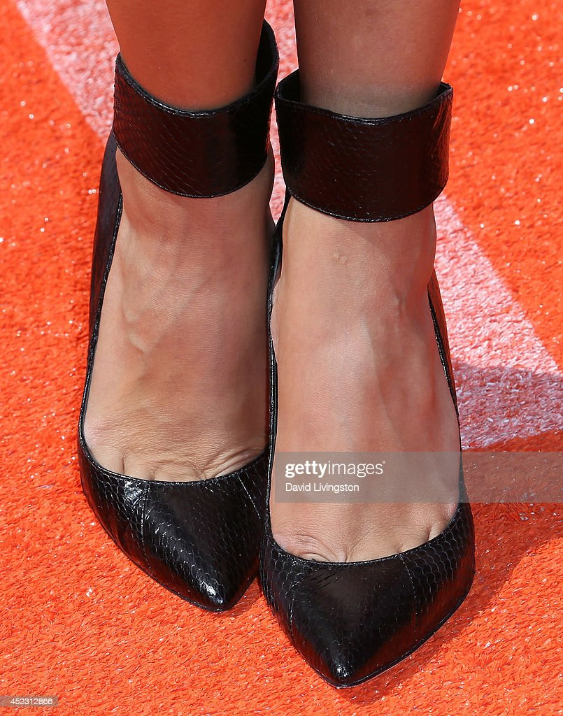 Actress Ana Villafane (shoe detail) attends the Nickelodeon Kids' Choice Sports Awards 2014 at Pauley Pavilion on July 17, 2014 in Los Angeles, California.