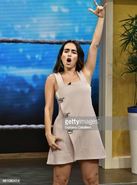 Actress Anabell Gardoqui 'Ana' de la Reguera is seen on the set of 'Despierta America' at Univision Studios on May 9 2017 in Miami Florida