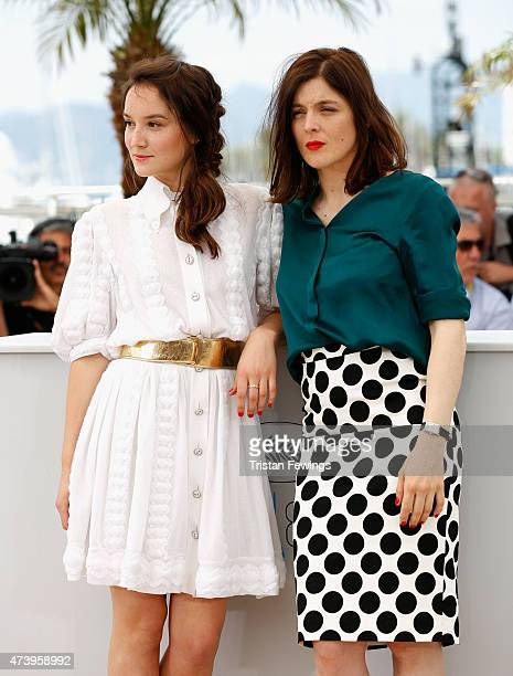 Actress Anais Demoustier and director Valerie Donzelli attend a photocall for 'Marguerite And Julien' during the 68th annual Cannes Film Festival on...
