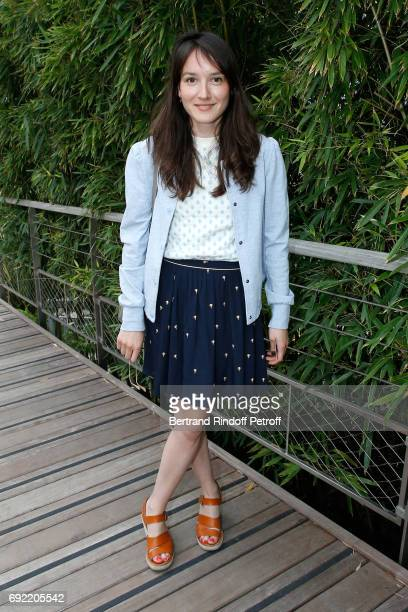 Actress Anais Demoustier attends the 2017 French Tennis Open Day Height at Roland Garros on June 4 2017 in Paris France