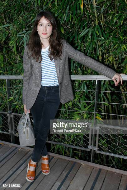 Actress Anais Demoustier attends the 2017 French Tennis Open Day Thirteen at Roland Garros on June 9 2017 in Paris France