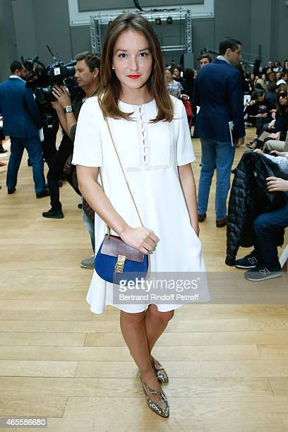 Actress Anais Demoustier attends the Chloe show as part of the Paris Fashion Week Womenswear Fall/Winter 2015/2016 on March 8 2015 in Paris France