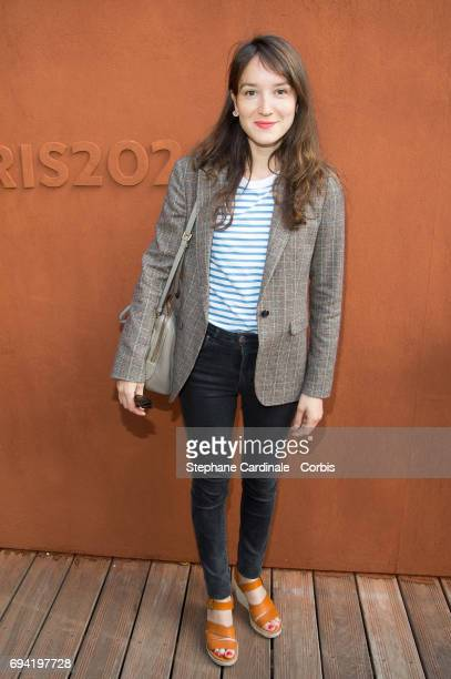 Actress Anais Demoustier attends the French Tennis Open 2017 Day Thirteen at Roland Garros on June 9 2017 in Paris France