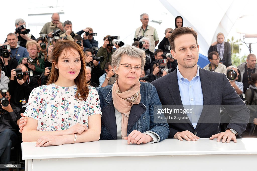 Actress Anais Demoustier, director Pascale Ferran and actor Josh Charles attend the 'Bird People' photocall at the 67th Annual Cannes Film Festival on May 19, 2014 in Cannes, France.