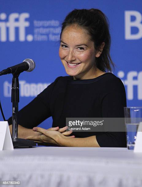Actress Anais Demoustier of 'The New Girlfriend' speaks onstage at 'The New Girlfriend' Press Conference during the 2014 Toronto International Film...