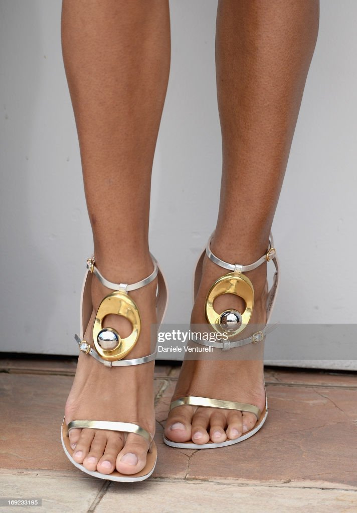 Actress Anais Monory (shoe detail) attends the photocall for 'Grigris' during The 66th Annual Cannes Film Festival on May 22, 2013 in Cannes, France.