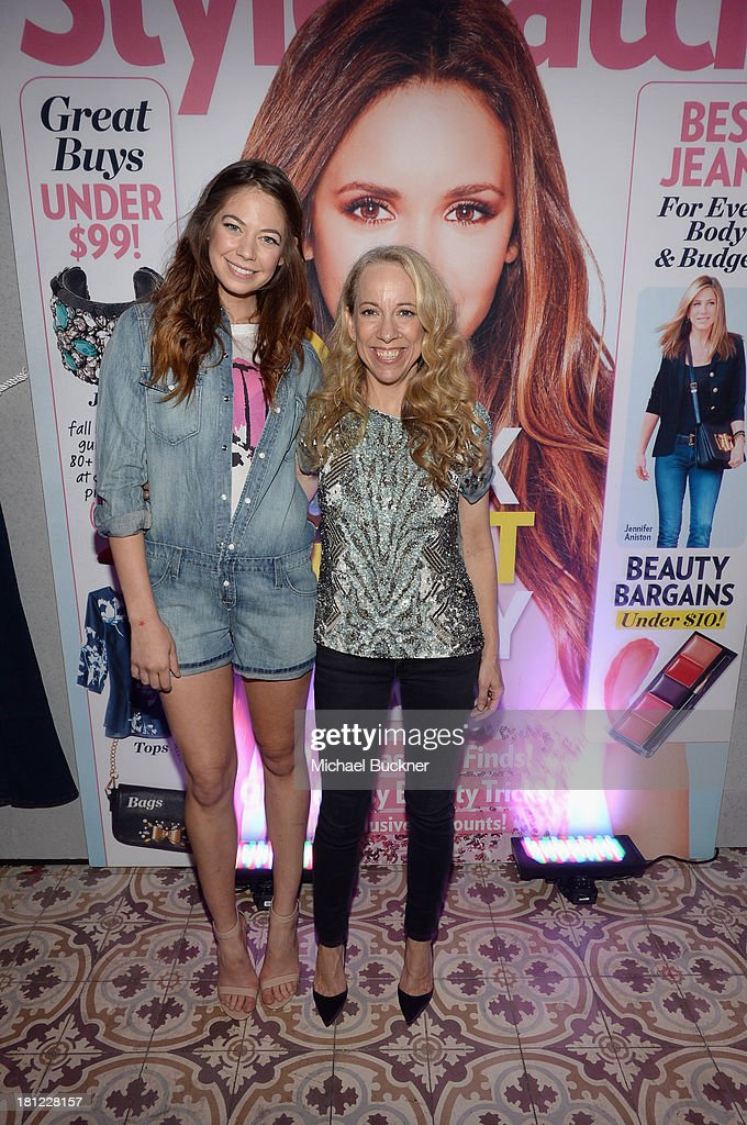 Actress Analeigh Tipton and Editor at People StyleWatch Susan Kaufman attend People StyleWatch Denim Awards presented by GILT at Palihouse on September 19, 2013 in West Hollywood, California.