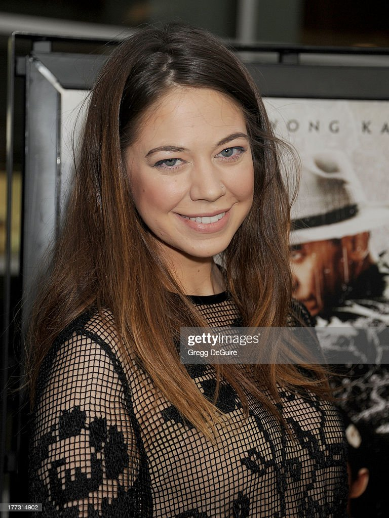 Actress <a gi-track='captionPersonalityLinkClicked' href=/galleries/search?phrase=Analeigh+Tipton&family=editorial&specificpeople=7357605 ng-click='$event.stopPropagation()'>Analeigh Tipton</a> arrives at the Los Angeles premiere of 'The Grandmaster' at ArcLight Cinemas on August 22, 2013 in Hollywood, California.