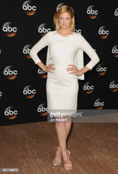 Actress Analeigh Tipton arrives the Disney|ABC Television Group 2014 Television Critics Association Summer Press Tour at The Beverly Hilton Hotel on...