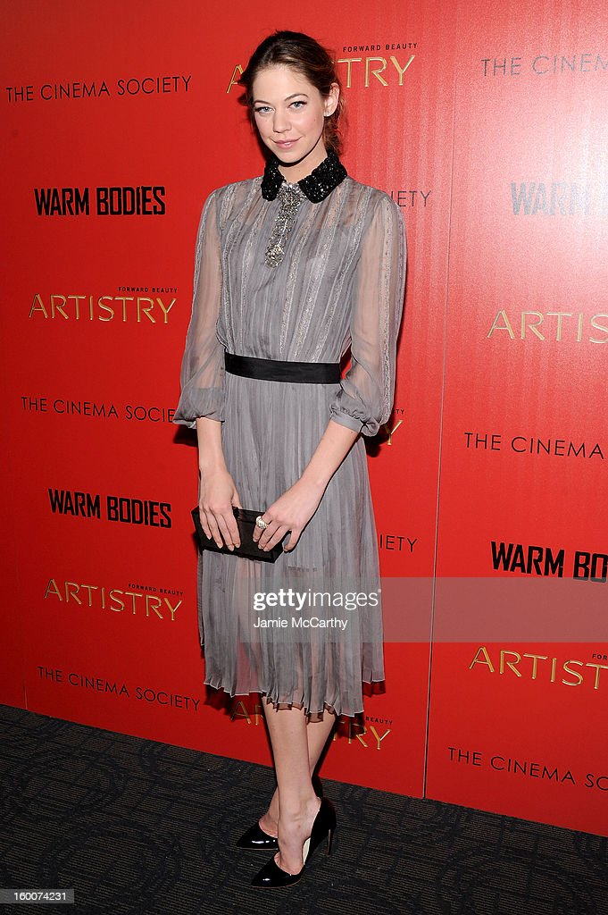 Actress Analeigh Tipton attends a screening of 'Warm Bodies' hosted by The Cinema Society at Landmark's Sunshine Cinema on January 25, 2013 in New York City.
