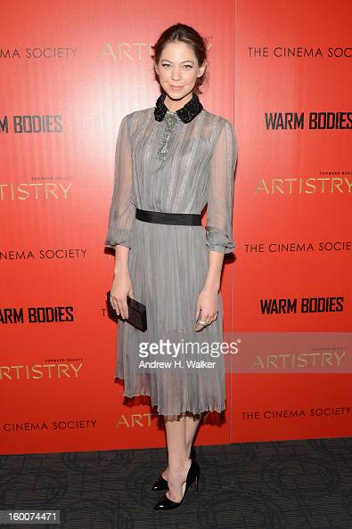 Actress Analeigh Tipton attends a screening of 'Warm Bodies' hosted by The Cinema Society at Landmark's Sunshine Cinema on January 25 2013 in New...