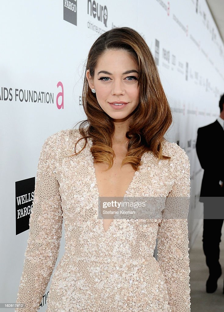 Actress Analeigh Tipton attends Chopard at 21st Annual Elton John AIDS Foundation Academy Awards Viewing Party at West Hollywood Park on February 24, 2013 in West Hollywood, California.