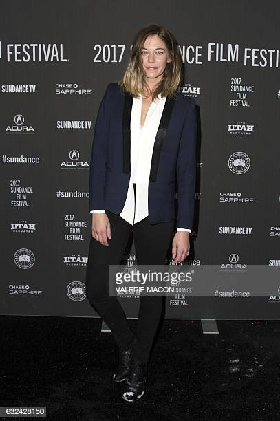 Actress Analeigh Tipton attends 'Golden Exits' Premiere at Library Center Theatre during the 2017 Sundance Film Festival in Park City Utah January 22...