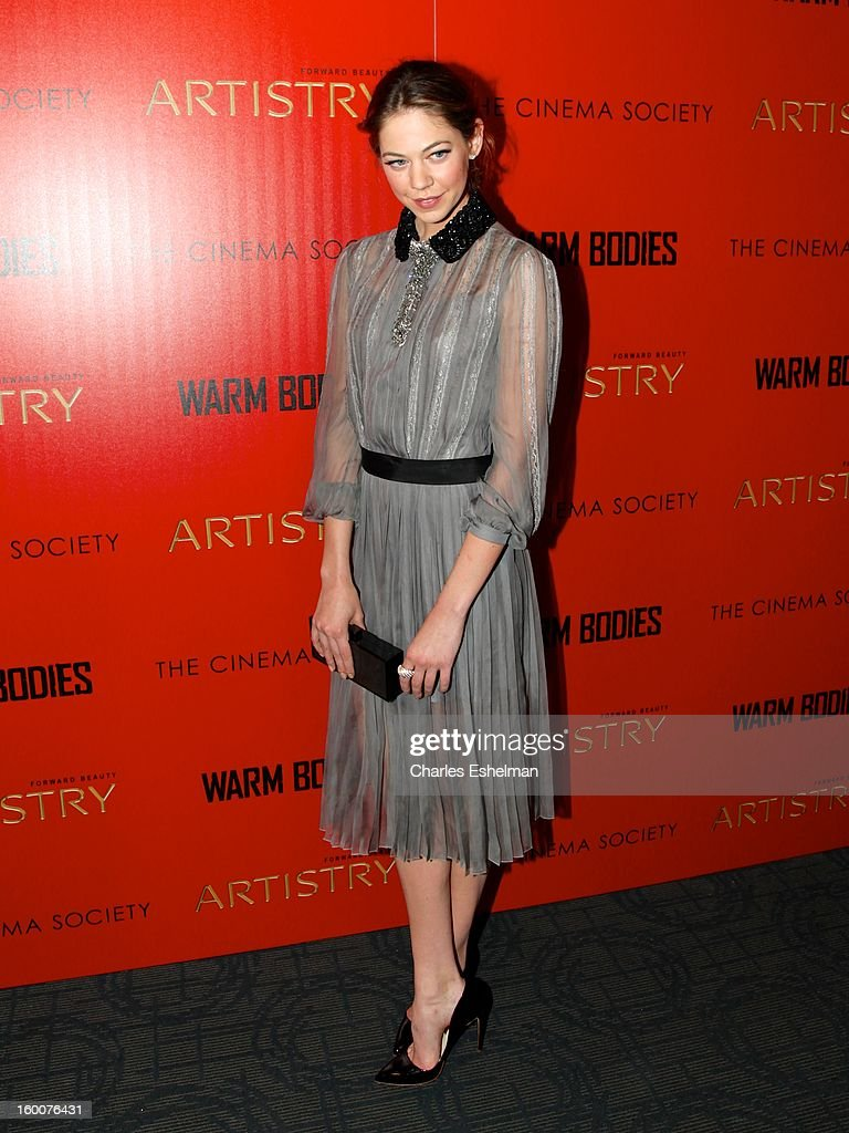 Actress Analeigh Tipton attends the Cinema Society and Artistry screening of 'Warm Bodies' at Landmark Sunshine Cinema on January 25, 2013 in New York City.