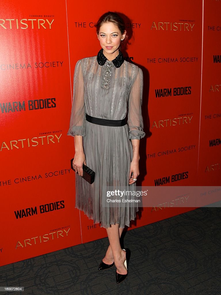 Actress Analeigh Tipton attends The Cinema Society & Artistry Screening Of 'Warm Bodies' at Landmark Sunshine Cinema on January 25, 2013 in New York City.