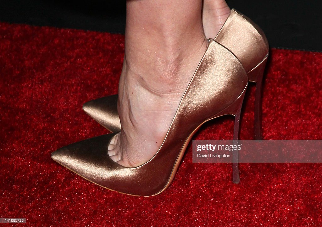 Actress Analeigh Tipton (shoe detail) attends the premiere of Sony Pictures Classics' 'Damsels in Distress' at the Egyptian Theatre on March 21, 2012 in Hollywood, California.