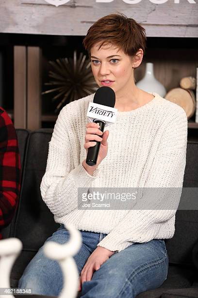 Actress Analeigh Tipton speaks at The Variety Studio At Sundance Presented By Dockers on January 25 2015 in Park City Utah