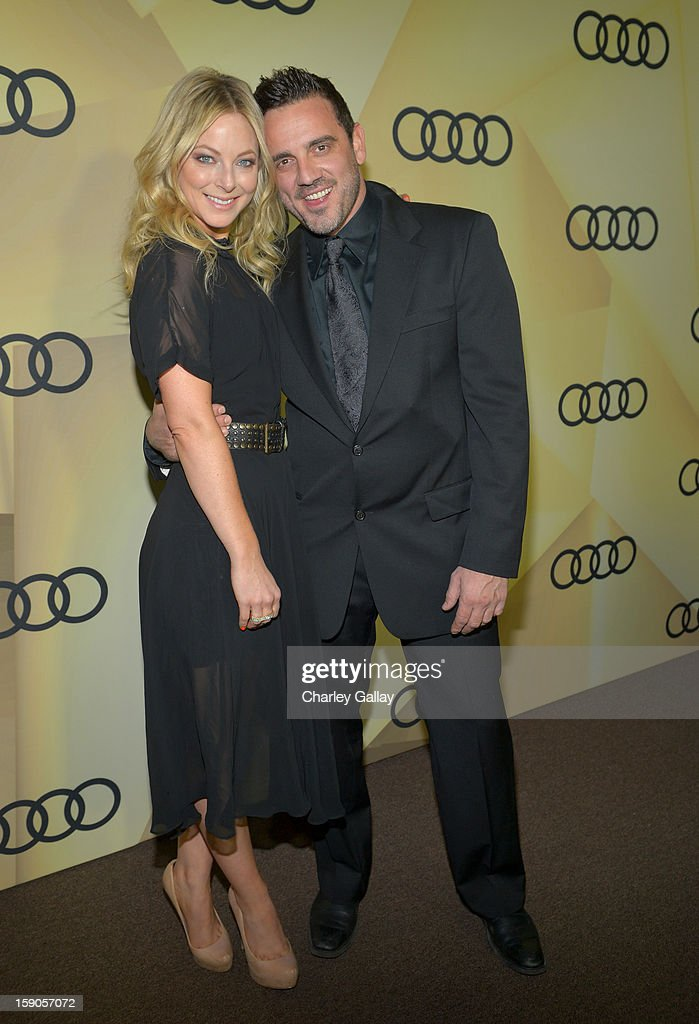Actress Anastasia Griffith (L) attends the Audi Golden Globes Kick Off 2013 at Cecconi's Restaurant on January 6, 2013 in Los Angeles, California.
