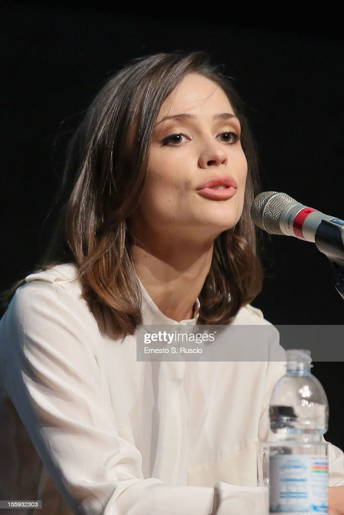 Actress Anastasia Mikulchina attends 'Waiting For The Sea' Press Conference during The 7th Rome Film Festival at Sala Petrassi on November 9, 2012 in Rome, Italy.