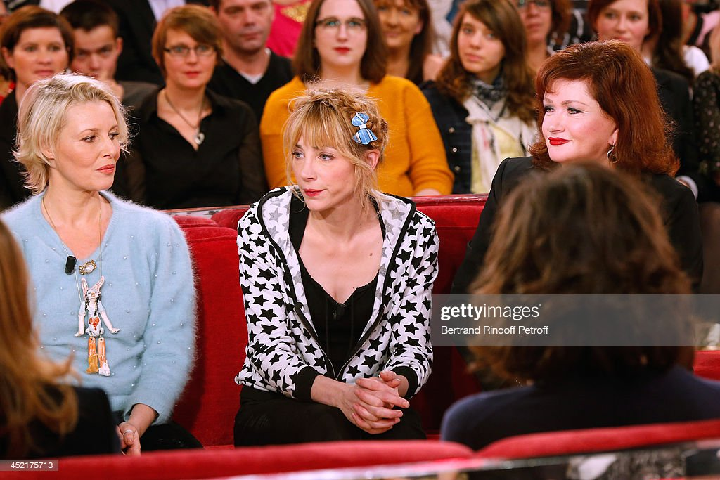 Actress and artist Florence Thomassin, actresses Julie Depardieu and Catherine Jacob attend 'Vivement Dimanche' French TV Show at Pavillon Gabriel on November 26, 2013 in Paris, France.