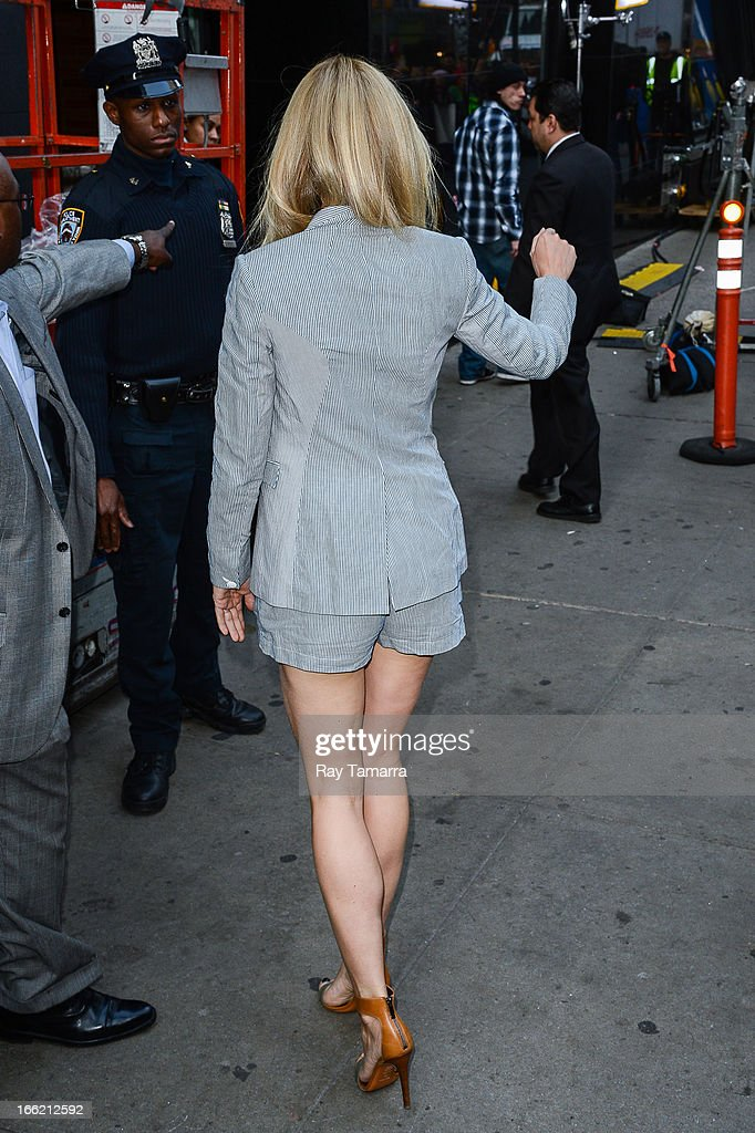 Actress and author Gwyneth Paltrow enters the 'Good Morning America' taping at the ABC Times Square Studios on April 10, 2013 in New York City.