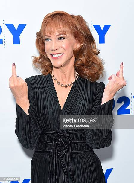 Actress and author Kathy Griffin poses before taking part ina conversation with Joy Reid at 92nd Street Y on November 23 2016 in New York City