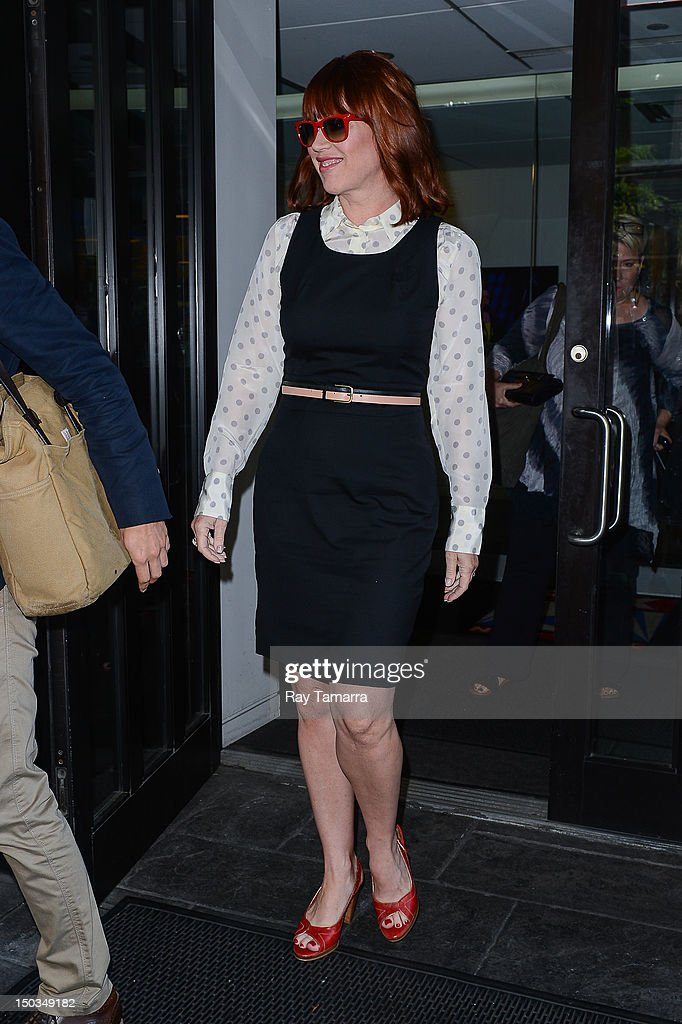 Actress and author Molly Ringwald leaves the 'Good Day New York' taping at the Fox 5 Studios on August 16, 2012 in New York City.