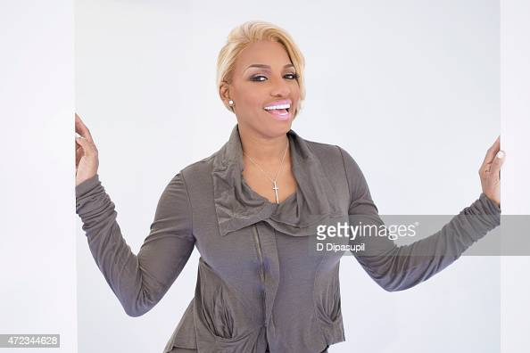 Actress and cast member of 'Real Housewives of Atlanta' NeNe Leaks poses for a portrait while visiting 'Extra' at their New York studios at HM Times...
