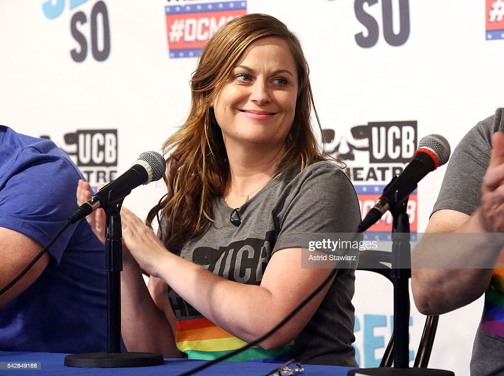 Actress and comedian <a gi-track='captionPersonalityLinkClicked' href=/galleries/search?phrase=Amy+Poehler&family=editorial&specificpeople=228430 ng-click='$event.stopPropagation()'>Amy Poehler</a> attends The Upright Citizens Brigade Theatre Presents: The 18th Annual Del Close Improv Comedy Marathon Press Conference at Upright Citizens Brigade Theatre on June 24, 2016 in New York City.