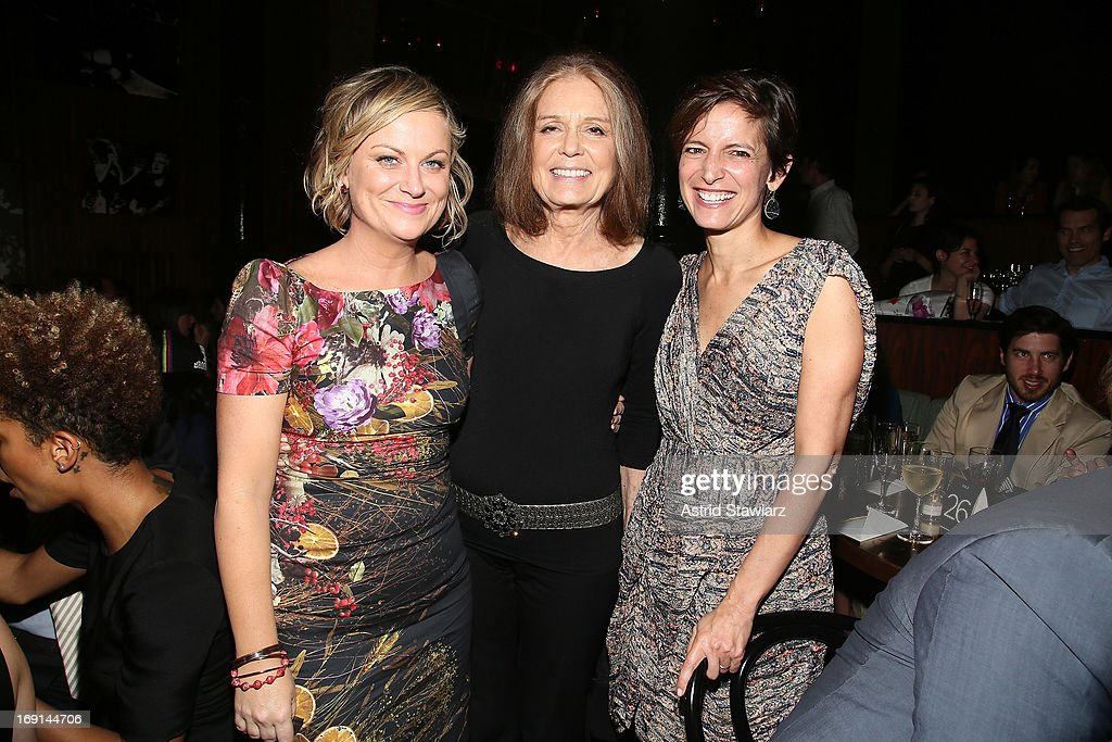 Actress and comedian <a gi-track='captionPersonalityLinkClicked' href=/galleries/search?phrase=Amy+Poehler&family=editorial&specificpeople=228430 ng-click='$event.stopPropagation()'>Amy Poehler</a>, journalist <a gi-track='captionPersonalityLinkClicked' href=/galleries/search?phrase=Gloria+Steinem&family=editorial&specificpeople=213078 ng-click='$event.stopPropagation()'>Gloria Steinem</a>, and GLAMOUR Editor-in-Chief Cindi Leive attend Glamour's presentation of 'These Girls' at Joe's Pub on May 20, 2013 in New York City.