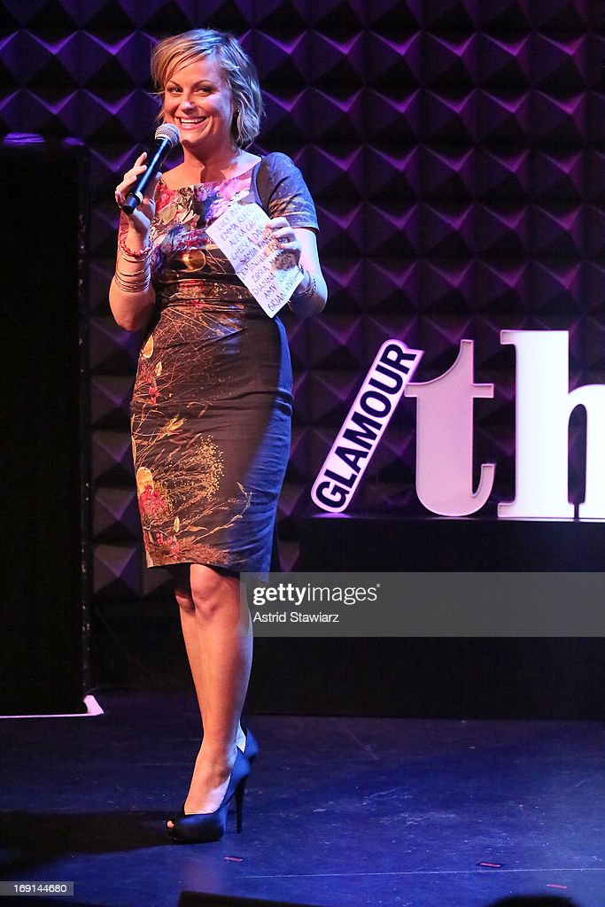 Actress and comedian <a gi-track='captionPersonalityLinkClicked' href=/galleries/search?phrase=Amy+Poehler&family=editorial&specificpeople=228430 ng-click='$event.stopPropagation()'>Amy Poehler</a> performs at Glamour's presentation of 'These Girls' at Joe's Pub on May 20, 2013 in New York City.