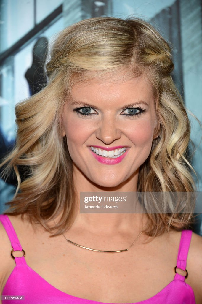 Actress and comedian Arden Myrin arrives at the Los Angeles Premiere of 'Dead Man Down' at ArcLight Hollywood on February 26, 2013 in Hollywood, California.