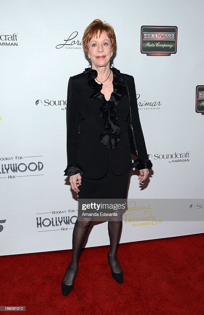 Actress and comedian <a gi-track='captionPersonalityLinkClicked' href=/galleries/search?phrase=Carol+Burnett&family=editorial&specificpeople=206201 ng-click='$event.stopPropagation()'>Carol Burnett</a> arrives at the Hooray For Hollywood...High Gala at the El Capitan Theatre on January 10, 2013 in Hollywood, California.