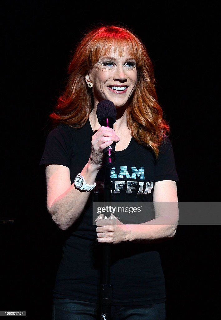 Actress and comedian <a gi-track='captionPersonalityLinkClicked' href=/galleries/search?phrase=Kathy+Griffin&family=editorial&specificpeople=203161 ng-click='$event.stopPropagation()'>Kathy Griffin</a> performs at the Dolby Theatre on May 4, 2013 in Hollywood, California.