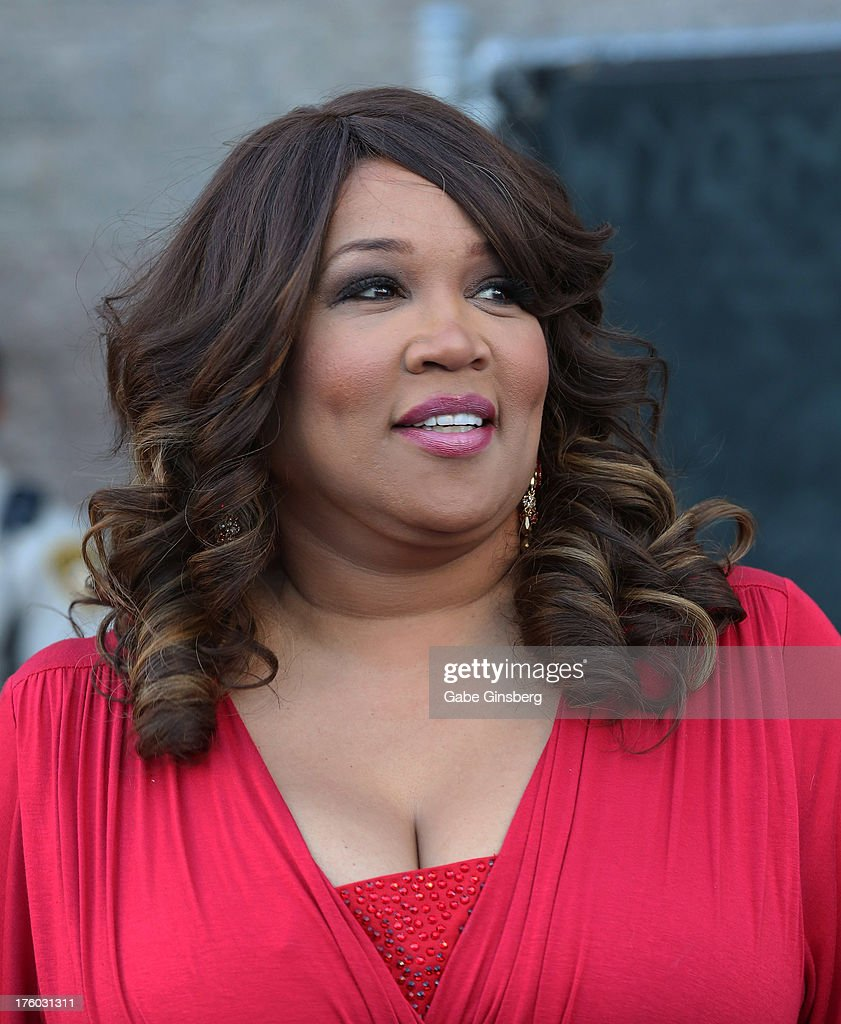Actress and comedian <a gi-track='captionPersonalityLinkClicked' href=/galleries/search?phrase=Kym+Whitley&family=editorial&specificpeople=242929 ng-click='$event.stopPropagation()'>Kym Whitley</a> arrives at the 11th annual Ford Neighborhood Awards at the MGM Grand Garden Arena on August 10, 2013 in Las Vegas, Nevada.