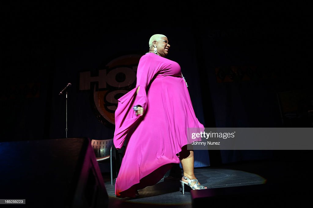 Actress and comedian <a gi-track='captionPersonalityLinkClicked' href=/galleries/search?phrase=Luenell&family=editorial&specificpeople=2159262 ng-click='$event.stopPropagation()'>Luenell</a> performs at Hot 97's April Fool's Comedy Show at The Theater at Madison Square Garden on April 1, 2013, in New York City.
