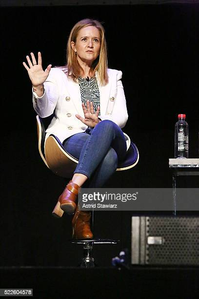 Actress and comedian Samantha Bee attends the Tribeca Daring Women Summit during the 2016 Tribeca Film Festival at Spring Studios on April 19 2016 in...