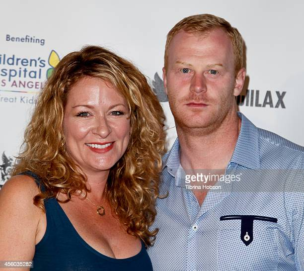 Actress and comedian Sarah Colonna and football player Jon Ryan attends The Abbey Food Bar's 9th annual Christmas in September event at The Abbey on...